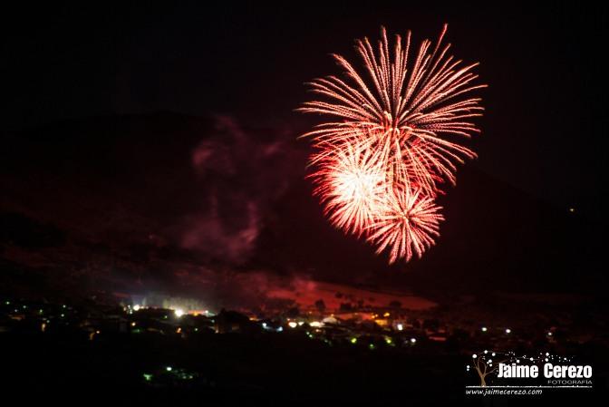 Fuegos artificiales en Logrosán