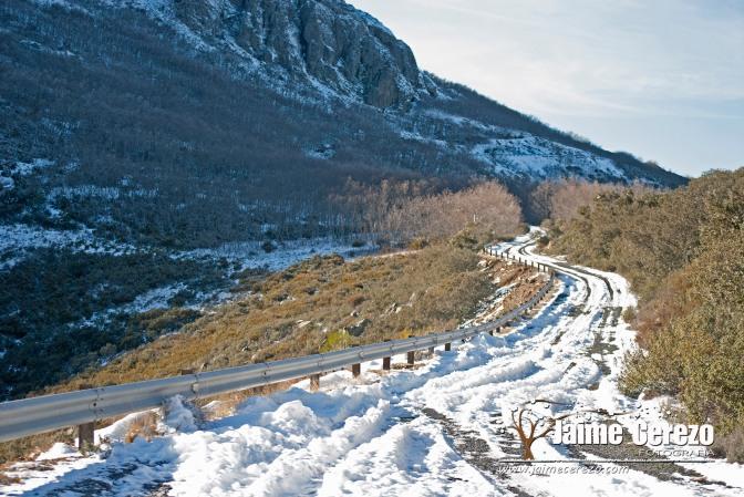 Hielo y nieve en La Villuerca