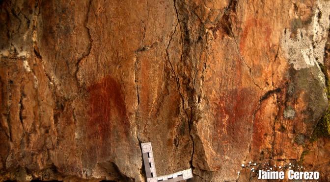 Visitando nuevos abrigos con pinturas rupestres en Toledo.