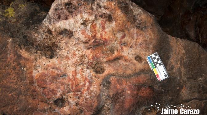 Aparecen más pinturas rupestres en Retamosa (Cabañas del Castillo )